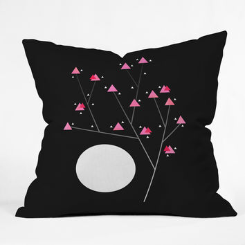 Elisabeth Fredriksson Modern Cherry Blossom Throw Pillow