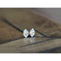 Herkimer Diamond Studs - As Seen On The Small Things Blog & Baby Daddy