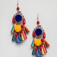 Glamorous Tassel Drop Statement Earrings (+) at asos.com