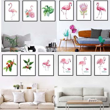 Dreamy Pink  Flamingos Decorative Paintings Canvas Paintings Hanging Paintings