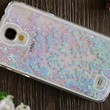 S4 Case,Liquid Quicksand Bling Love Heart Case for galaxy S4,Adorable flowing Floating Moving Shine Glitter Love Heart Hard Case for Samsung S4(Bling Blue)
