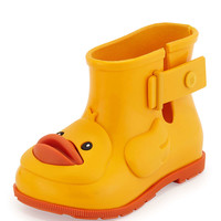 Sugar Rain Rubber Ducky Rainboot, Yellow - Melissa Shoes