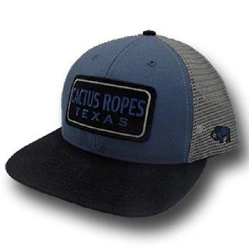 "HOOey Hat NEW FOR 2018 ""CR28"" Hooey Cactus Ropes, Blue / Gray Trucker - OSFA"