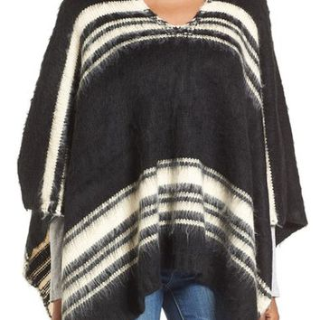 Roffe Accessories Stripe Poncho | Nordstrom