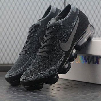 PEAPNW6 Sale 2018 Nike Air VaporMax Vapor Max 2018 Flyknit Men Women Triple Black Sport Running Shoes 899473-003