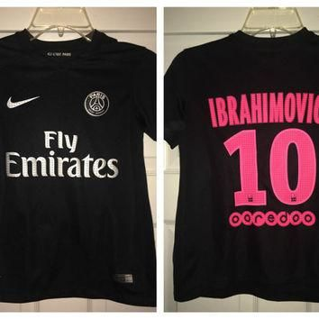Sale!! Vintage Nike Paris Saint Germain Soccer Jersey PSG France Football Shirt #10 Ib