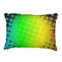 Green Super Hero Sunburst Decorative Pillow