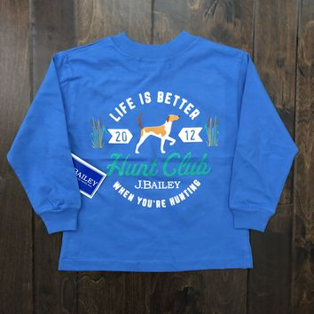 J. Bailey by The Bailey Boys - Hunt Club LS Tee - Periwinkle