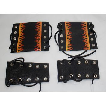 motorcycle throttle and clutch covers flame print