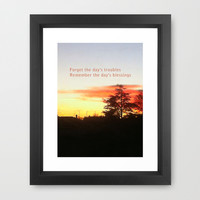 Remember the day's blessings Framed Art Print by cycreation