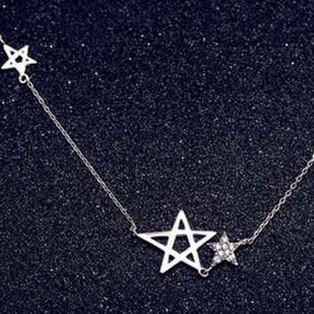 unique casual simple style Stars necklace womens necklace gift 61