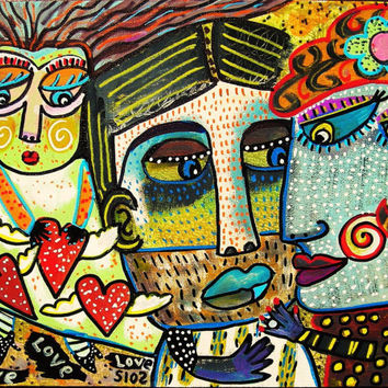 Man & Woman In Love  SILBERZWEIG ORIGINAL by SandraSilberzweigArt