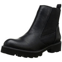 Rebels Womens Delia Faux Leather Pull On Chelsea Boots