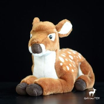 Large Deer Stuffed Animal Plush Toy 17""