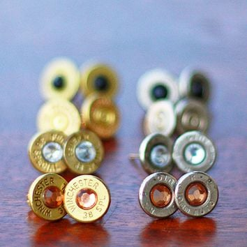 Bullet Stud Earrings