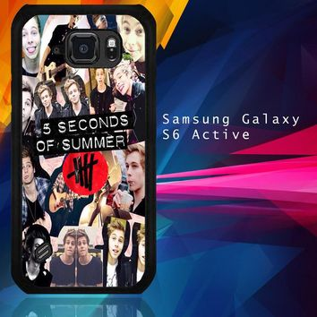 5 Seconds Of Summer 5Sos Collage Luke Hemmings V1355 Samsung Galaxy S6 Active  Case
