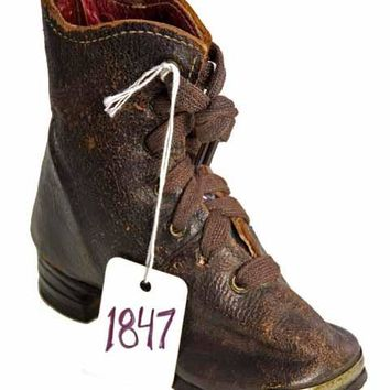 Rare Antique Childs Boot ( single) 1847 Hand Made