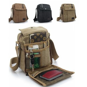 Man Fashion Mens Canvas Shoulder Bag Handbag Messenger Sling School Bags Casual