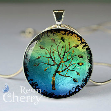 tree charm jewelrys,tree pendant charms,tree resin pendant- D0783CP