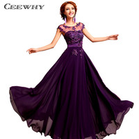 Chiffon Pearls Embroidery Sleeveless Women Formal Gowns Wedding Party Dresses Elegant Long Red A-Line Bridesmaid Dresses