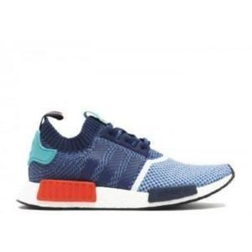 VLX85E Beauty Ticks Adidas Nmd R1 Pk Pakers Blue Turquoise Red Sport Running Shoes