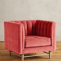 Velvet Marryn Chair by Anthropologie