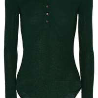 Protagonist - Ribbed wool, cashmere and silk-blend bodysuit