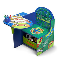 Delta Children Chair Desk With Storage, Nickelodeon Ninja Turtles