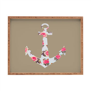 Allyson Johnson Floral Anchor Rectangular Tray