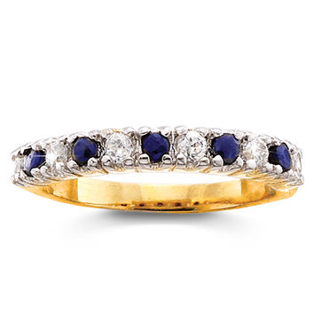 Genuine Sapphire Stackable Band Ring