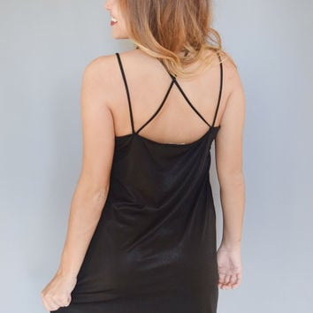 Twilight Strappy Back Dress Black