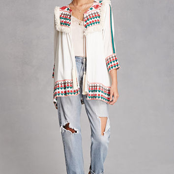 Raj Embroidered Fringe Jacket