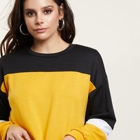 Colorblock Cropped Sweater