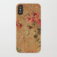 Vintage Floral iPhone Case by digitaleffects