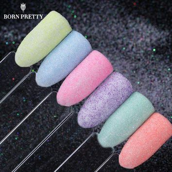 6 Boxes Pastel Sugar Nail Glitter Set Colorful Sandy Mixed Dust Powder Manicure Nail Art Decorations Kit
