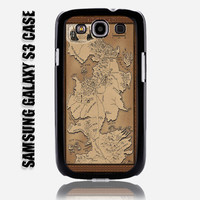 Vintage Game Of Thrones Map The North Samsung Galaxy S3 Case Cover