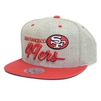 San Franciso 49ers Mitchell & Ness Grey City Bar Script Snapback