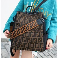 Fendi Fashion New More Letter Travel Leisure Shoulder Bag Backpack Bag Women