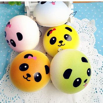 Bag Parts & Accessories 4 cm Cute Panda Squishy Kawaii Buns Bread Charms Key/Bag/Cell Phone Straps