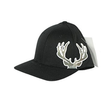 DEADEYE Outfitters Black hat with Deer Antlers in Camo Large/Xlarge