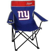 Coleman New York Giants Royal Blue-Red Quad Folding Chair