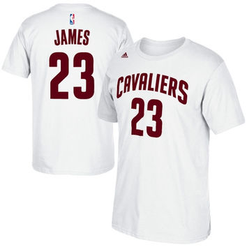 LeBron James Cleveland Cavaliers adidas Net Number T-Shirt – White