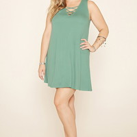 Plus Size Strappy Shift Dress | Forever 21 PLUS - 2000205902