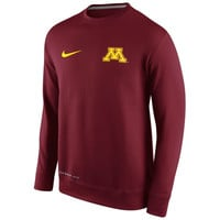 Minnesota Golden Gophers Nike KO Chain Fleece Crew Pullover Sweatshirt – Maroon