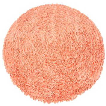 Coral Ruffles - Nursery Rugs (Made to Order. Usually ships in 2-3 weeks)