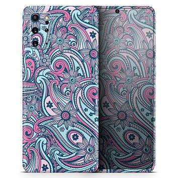 Seamless Mint and Pink Sprout - Skin-Kit for the Samsung Galaxy S-Series S20, S20 Plus, S20 Ultra , S10 & others (All Galaxy Devices Available)