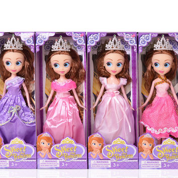 Dress Up  Princess Sofia simulation big eyes doll girl toy best Gift for Girls