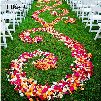 Petalos De Rosa De Boda Seda Petal Aisle Runner Rose Petals For Wedding Wedding Decor Rose Petals Made Of Fabric Pots For Flower