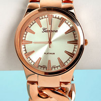Time Chains Rose Gold Watch