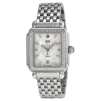 Michele Deco Diamond Geometric Mosaic Ladies Watch MWW06T000069